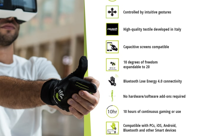 CaptoGlove: PC-VR-AR-iOS-Android Smart Controller  | Indiegogo