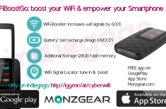 WiFiBoostGo: Smartphone Signal and Power Booster | Indiegogo