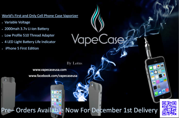 VapeCase - The World's First Cell Phone Case Vaporizer