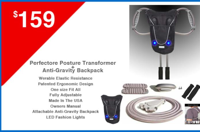 Posture Transformer & Antigravity BackPack | Indiegogo