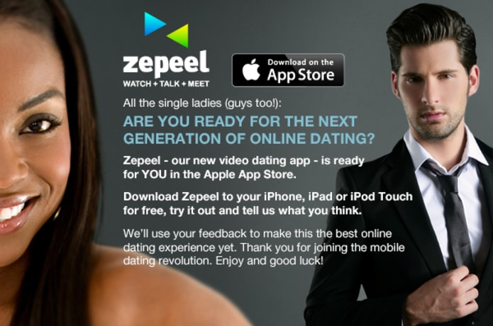 Zepeel - The First Mobile Video App for Interactive Online