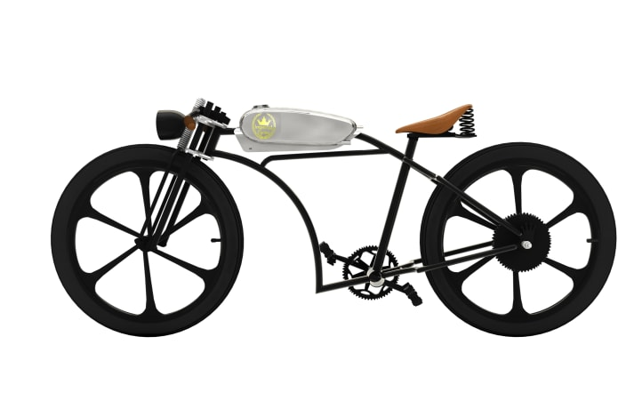 Imperial Cycles Motorized Bicycle custom Gas Tank | Indiegogo