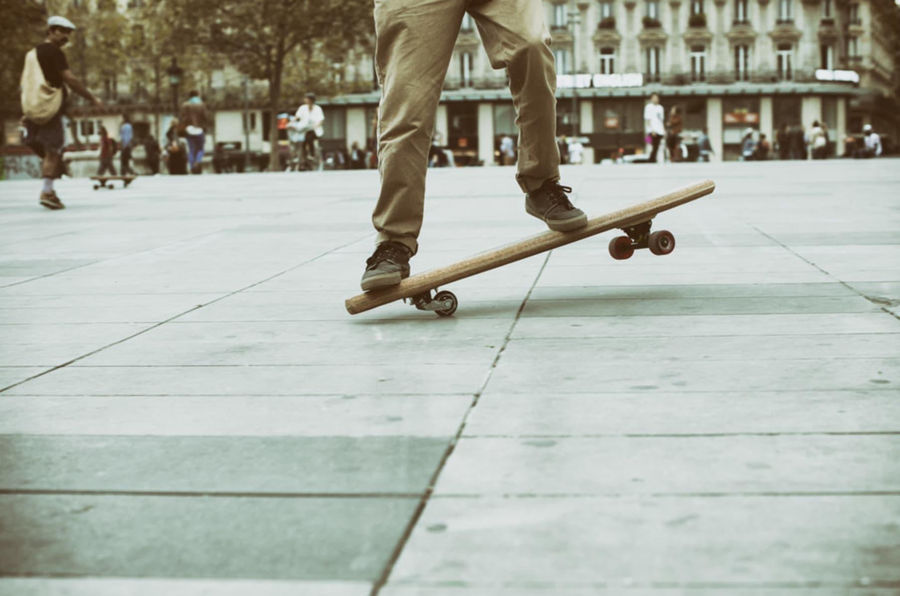 Carve Skateboard Bored POP ART X