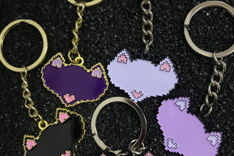Fox Face Ita Bag enamel pin display | Indiegogo