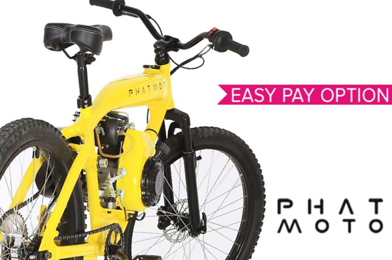 Phatmoto: All-In-One Gas Engine Bike | Indiegogo