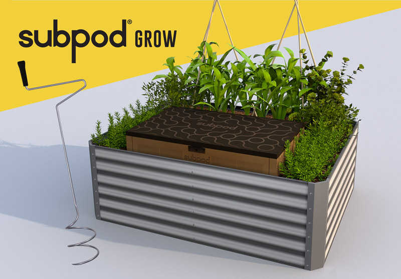 with Dual Chamber Design. Composting System /& Worm Farm in-Garden SUBPOD Compost Bin Outdoor